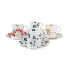 I'm Off To Join The Circus Floral Espresso Set - IMOTJTC007