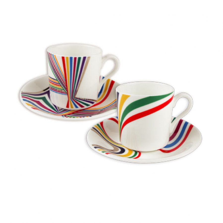 Im Off To Join The Circus Stripes Espresso Set IMOTJTC008